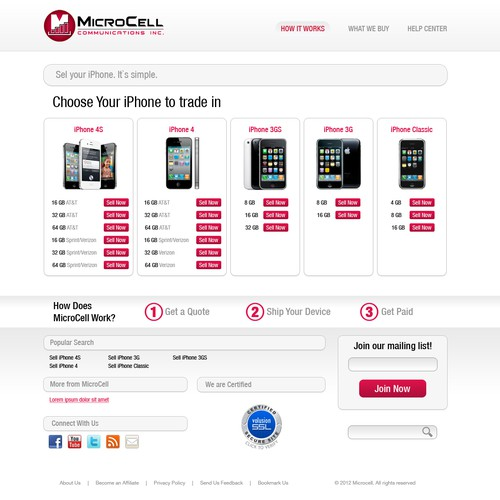 Microcell needs a new website design