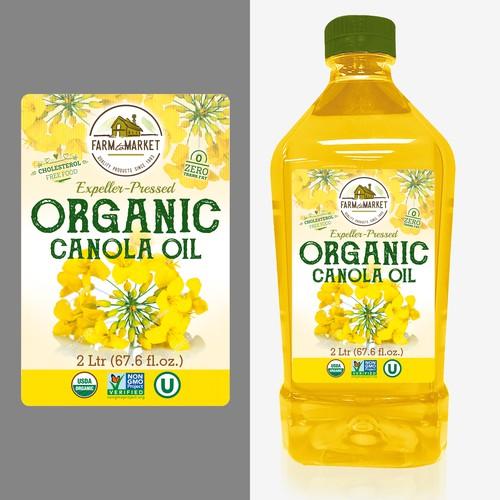 label for Canola oil
