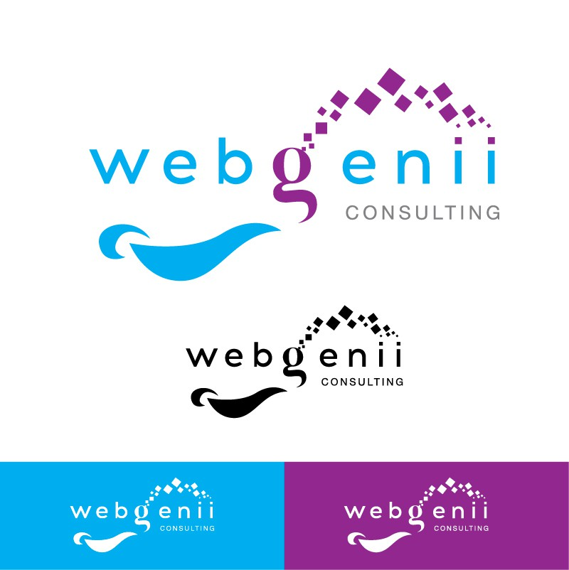 Create a logo that shows what WebGenii Consulting does
