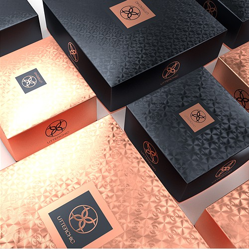 Packaging for UtterChic fashion jewelry brand