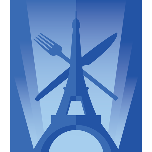 Create an art deco logo for an importer of gourmet products