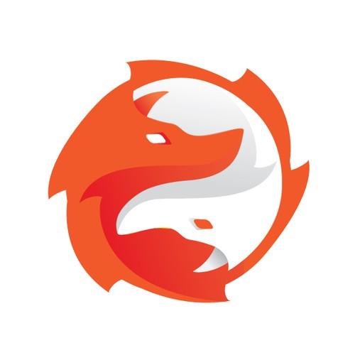 Yin Yang Fox Logo
