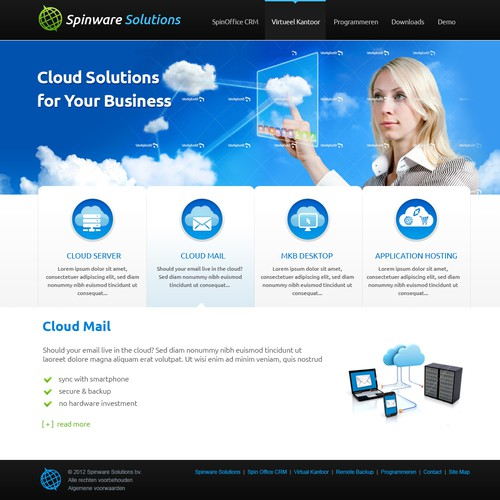New website design wanted for Spinware Solutions