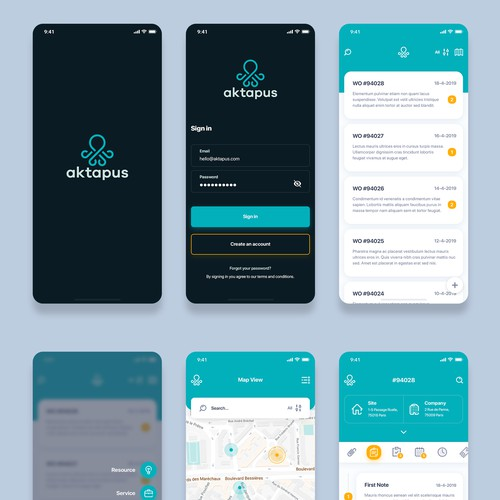 Design a Mobile App for Aktapus