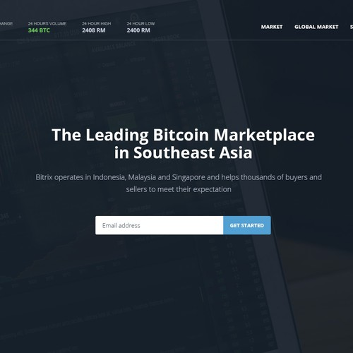Homepage for bitcoin marketplace