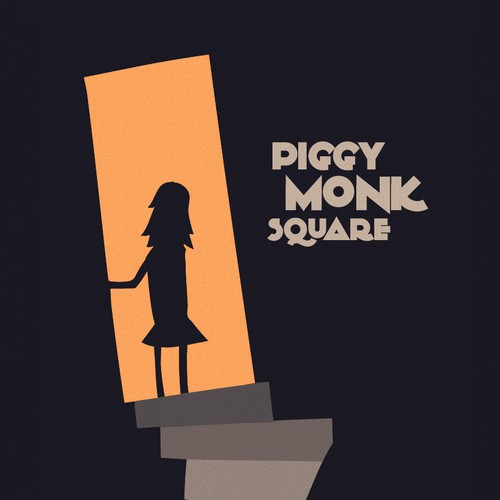 Bookcover 'Piggy Monk Square'