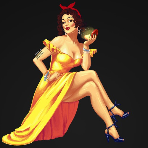 Pin up stylie girl