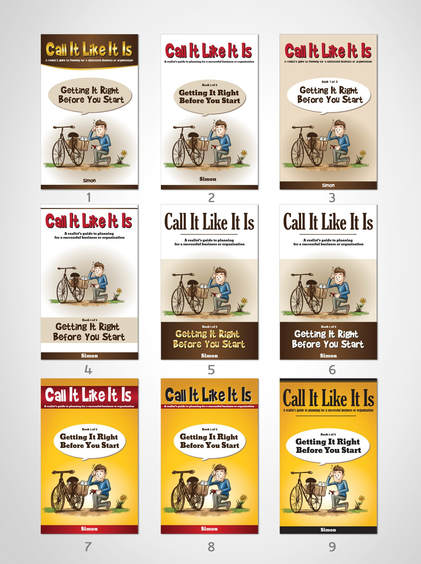 """Simple Illustrations for new eBook: """"Call It Like It Is"""""""
