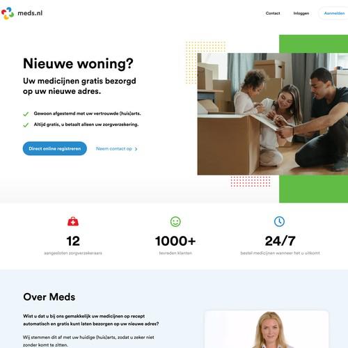 Meds.nl landing page design
