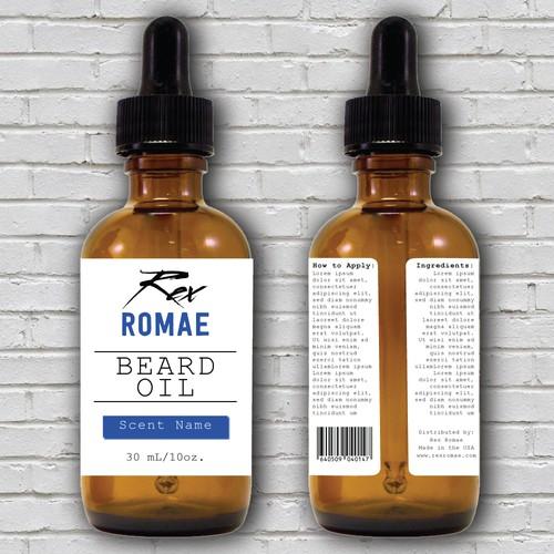 Rex Romae Beard Oil Product Label