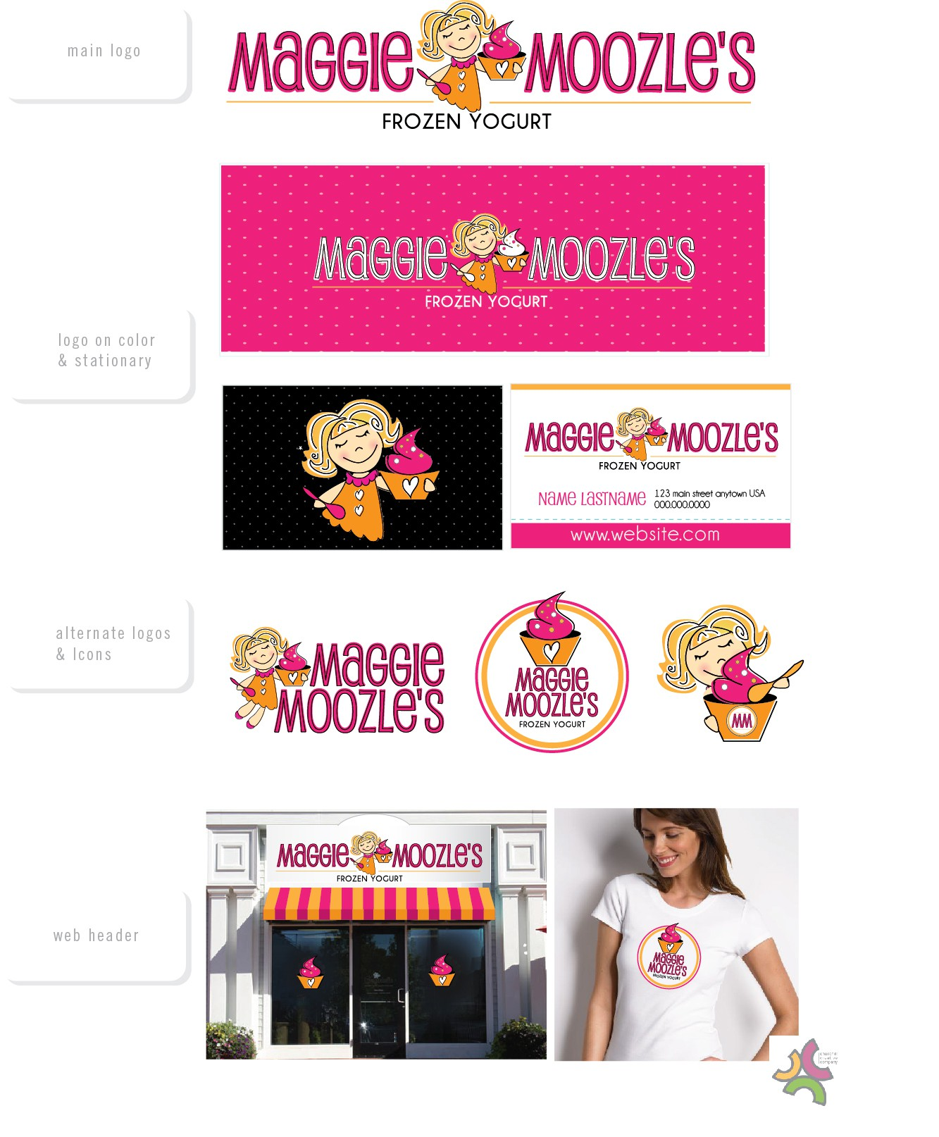 Help Maggie Moozle's  with a new logo