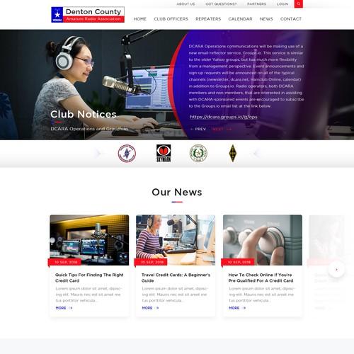 Website Design for a Radio Station