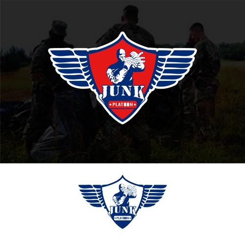 concept logo for kunk platoon