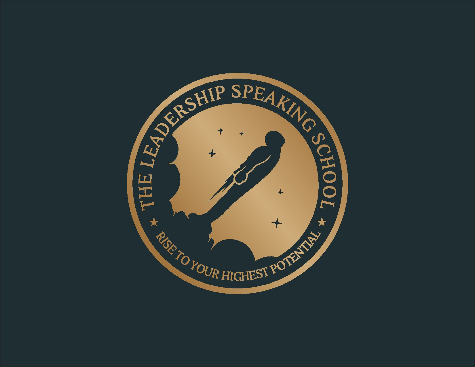 Logo for a world-class school for leadership speaking
