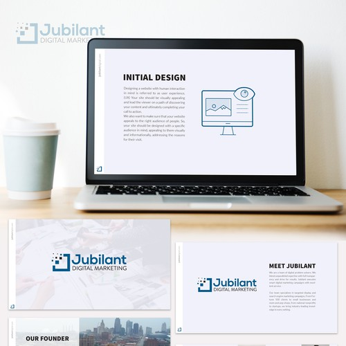 Professional and modern presentation template for a Marketing Agency