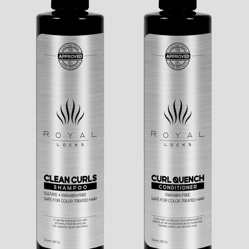 Labels for shampoo and conditioner