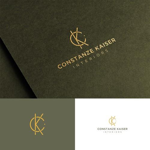 CK Letter Logo Design for interior/accessoires Company.