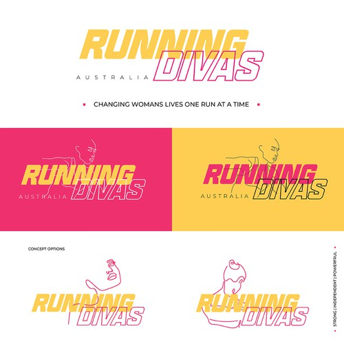Bold logo concept for woman's running group