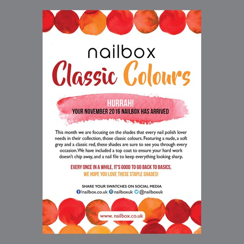 flyer for nailbox
