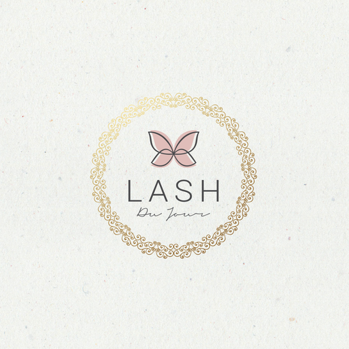 logo for luxurious brand for  eyelashes