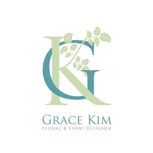 Logo proposal for Grace Kim Floral designer.