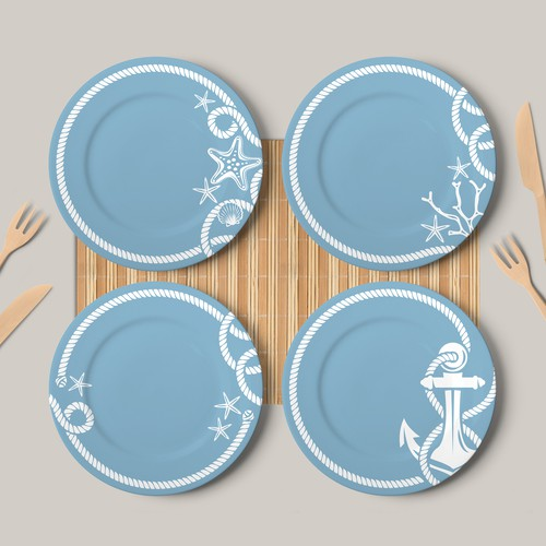 Pattern for Outdoor Melamine Set Plates