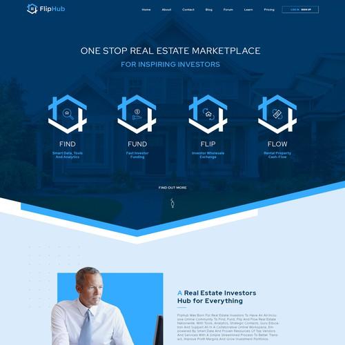 Modern design for real estate app