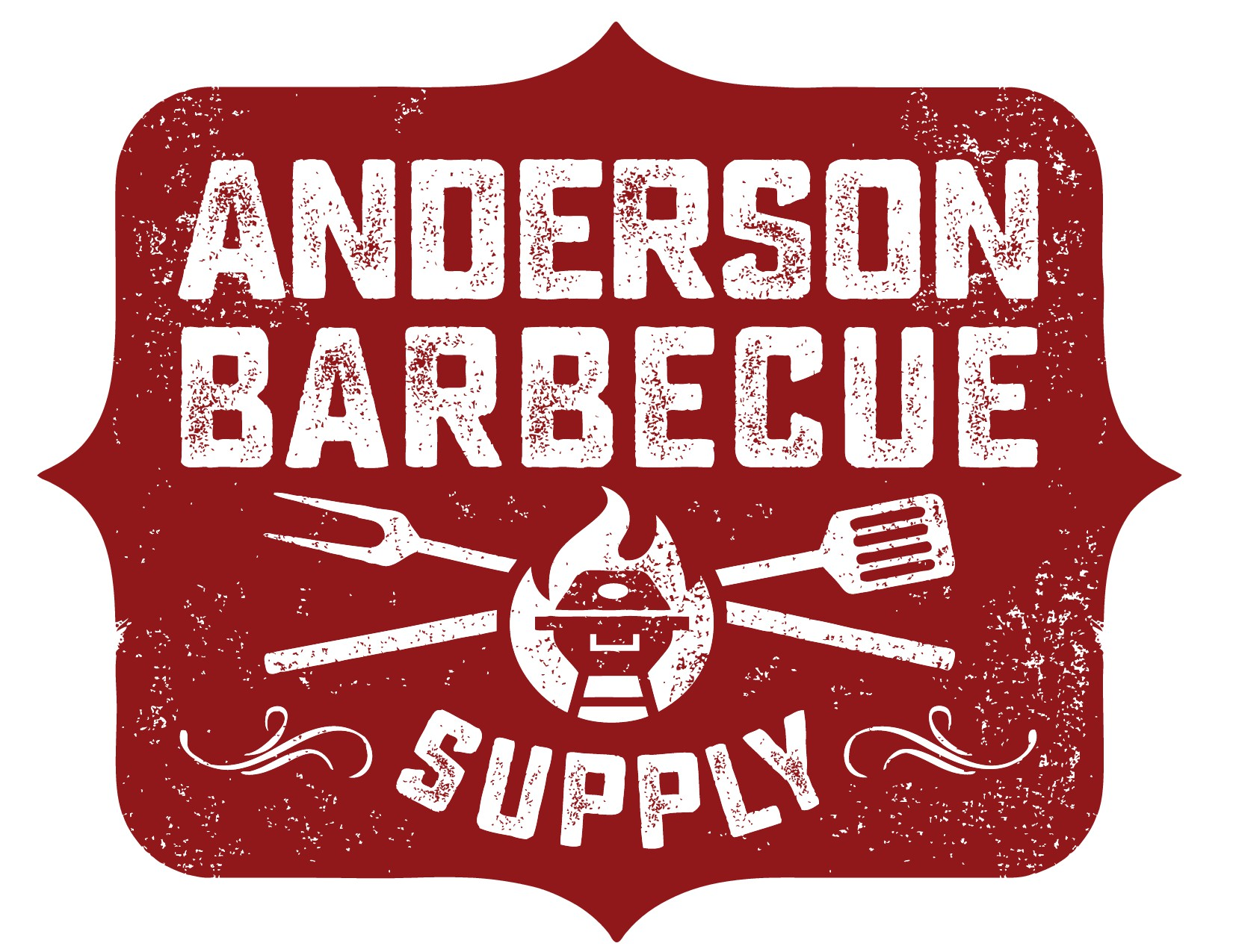Vintage Custom Barbecue Supply Store Logo Design