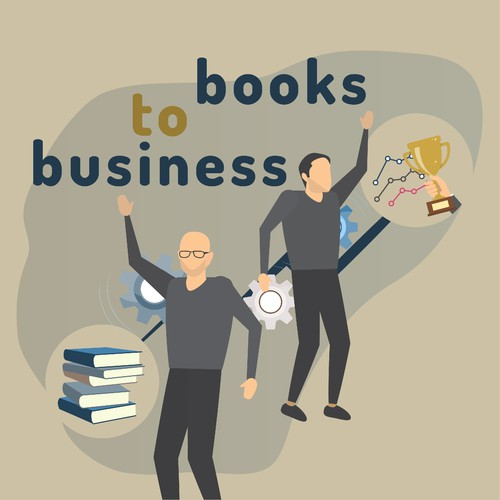 illustration for books-to-business podcast