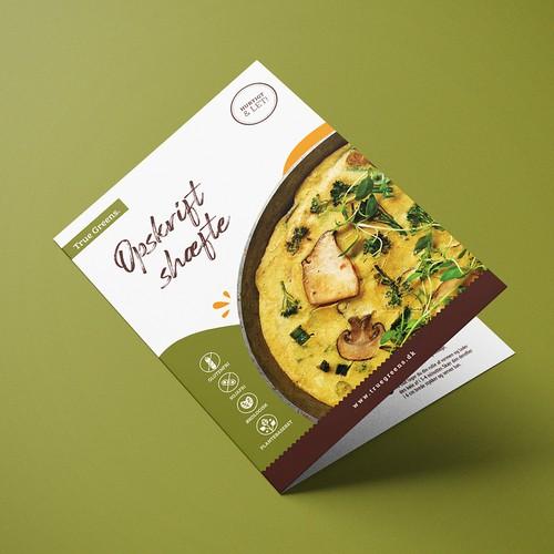 Recipe Booklet Design for Danish Vegan Egg brand