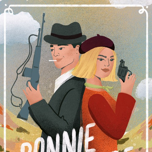 Bonnie and Clyde movie poster re-design