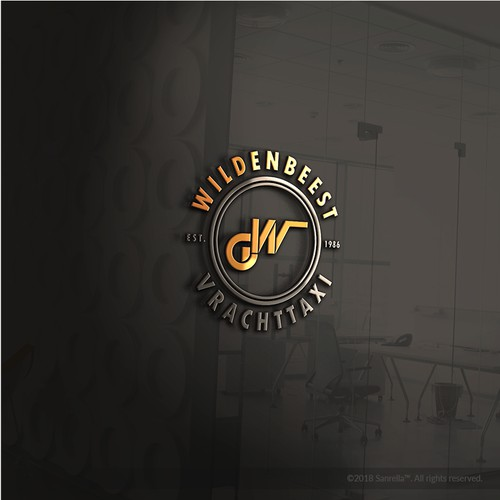 Simple badge style logo concept for Wildenbeest Vrachttaxi Company