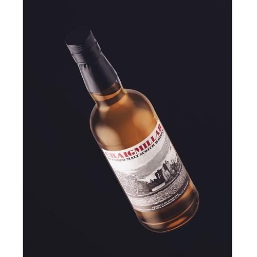 Scotch whisky label