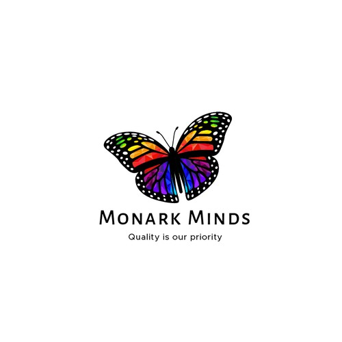 Design a Monarch Butterfly logo for health and wellness company