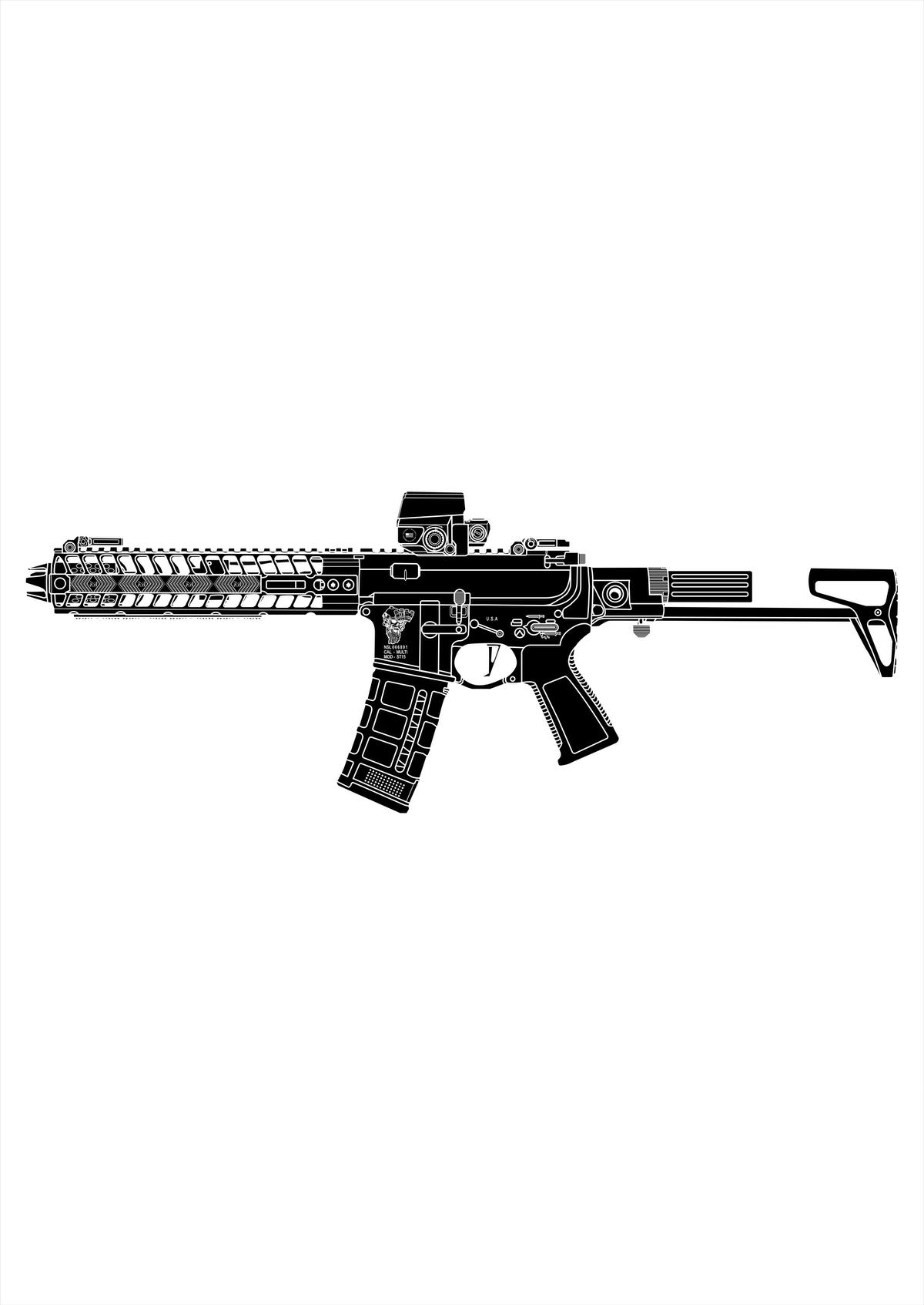 AR-15 Shirt Design