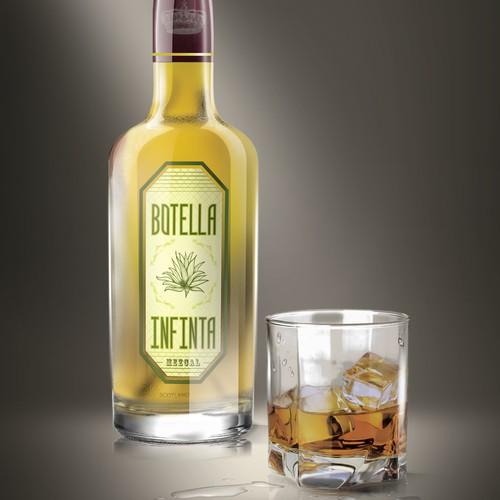 "Product Label for ""Botella Infinita"" mezcal drink"