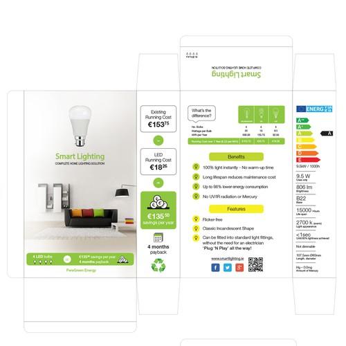 eco light bulbs packaging design