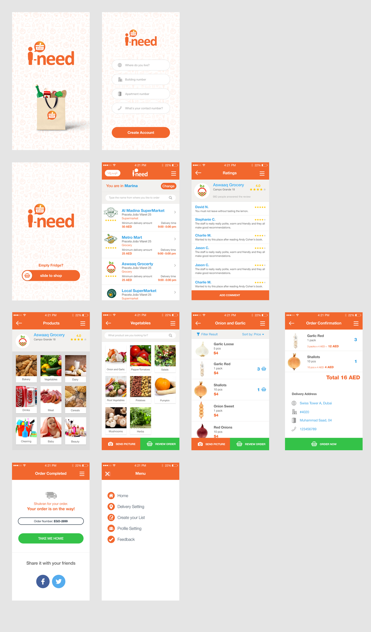 Optimizing designs for grocery app
