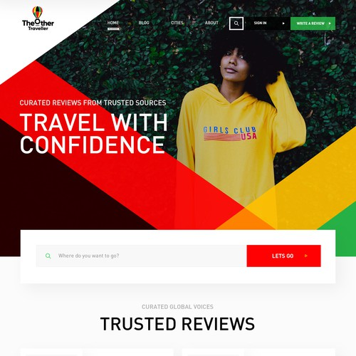 Web design for travel start-up