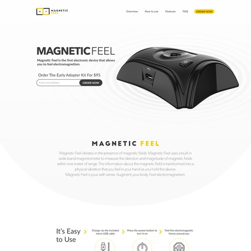 Landing Page for an Innovative Electronics Product