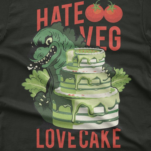 hate veg love cake