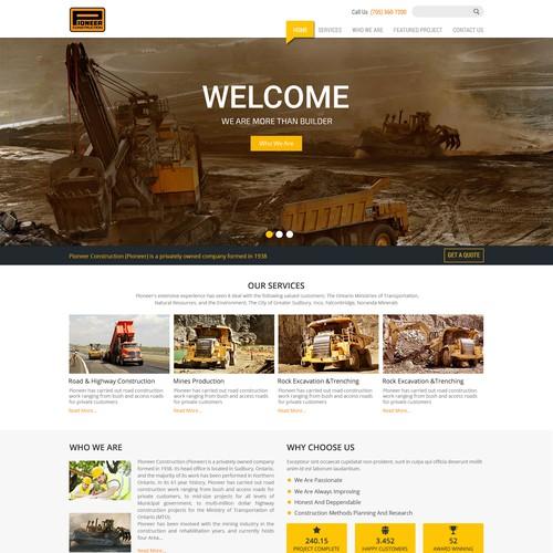 Pioneer Construction Inc Redesign