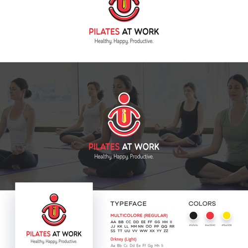 Logo concept for project Pilates At Work