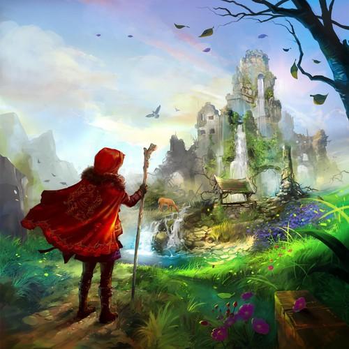 Big Red Illustration for children book