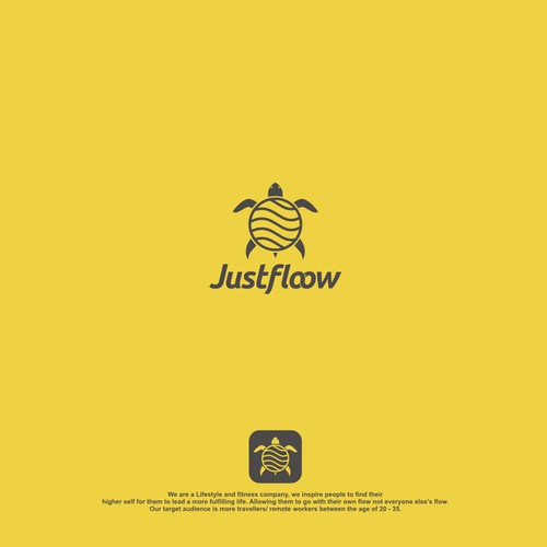 fun and elegance logo for justfloow