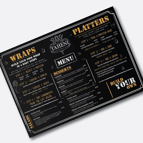 "Quick-Serve ""build your own"" Menu Design"