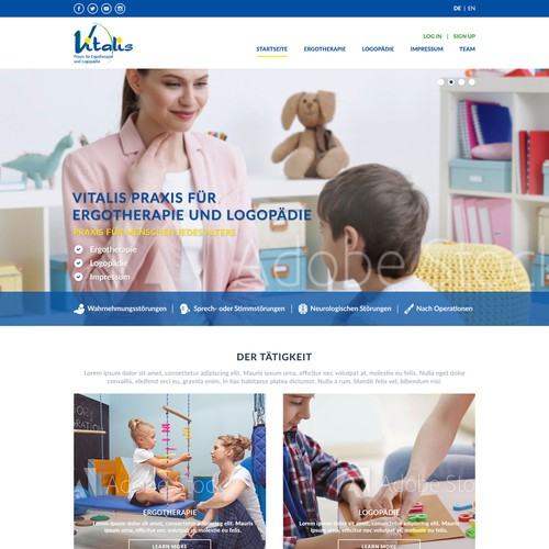 Speech Therapy Clinic webpage design