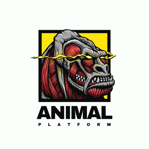 Attack on Titan Meets Gorilla Logo for Fitness Company