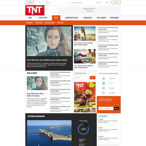 New look website for TNT Magazine