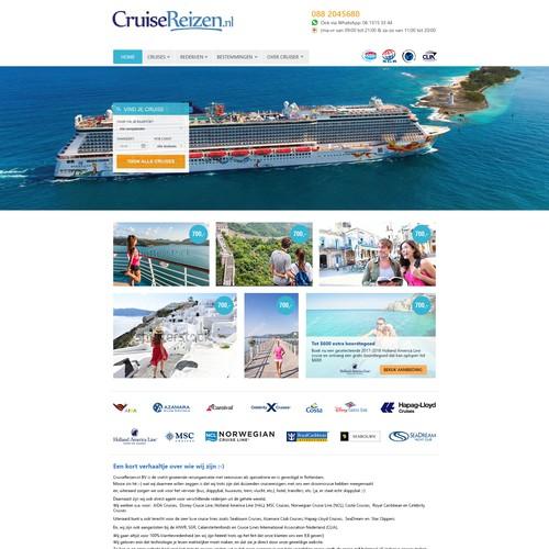 CruizeReizen webpage redesign concept